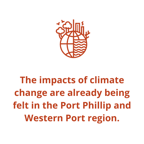 The impacts of climate change are already being felt in the Port Phillip and Western Port region.
