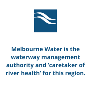 Melbourne Water is the waterway management authority and 'caretaker of river health' for this region.