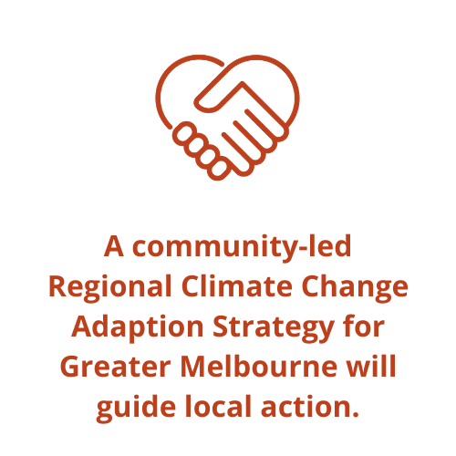 A community-led Regional Climate Change Adaption Strategy for Greater Melbourne will guide local action.