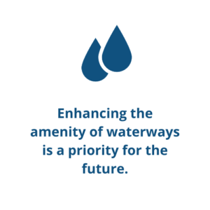 Enhancing the amenity of waterways is a priority for the future.